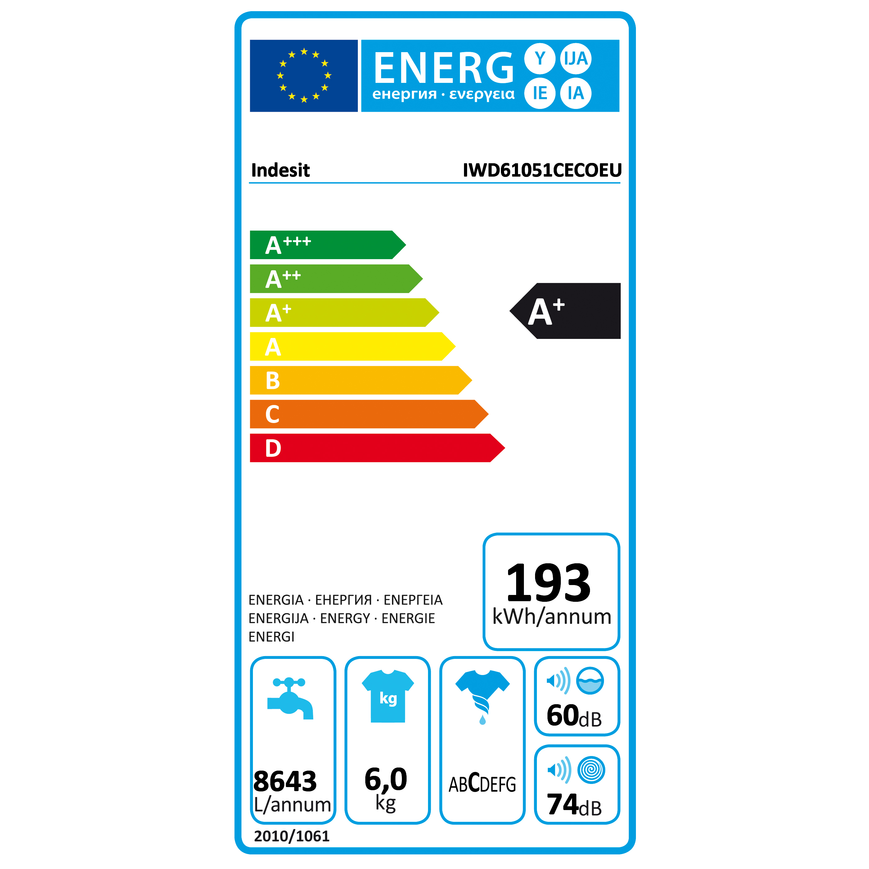 Pračka Indesit IWSD 61051 C ECO EU