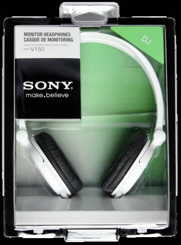 Sluchátka Sony MDR V150W bílá