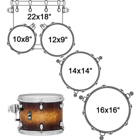 BPNV628XCUB DRUM SET 6 PC MAPEX