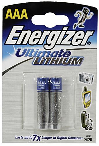 FR03 2BP AAA Ultimate Li ENERGIZER