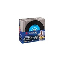 VERBATIM CD-R(10-Pack)Slim/Vinyl/DLP/52x/700MB