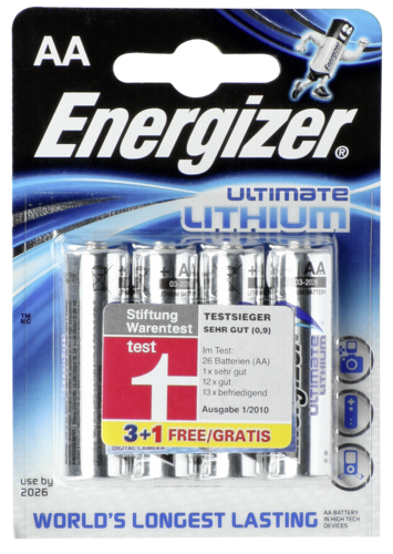 ENERGIZER Ultimate Lithium Mignon AA 1,5V 3+1 vyhod. baleni