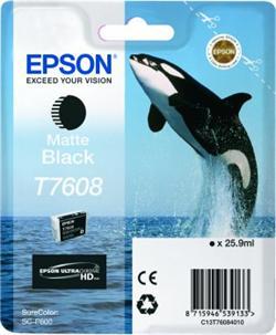 Epson ink cartridge matte black T 7608
