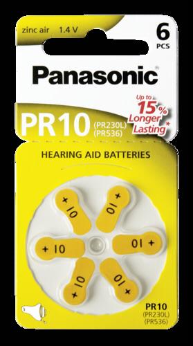 Panasonic PR 10 Zinc Air 6 pcs. Hearing Aid Cells
