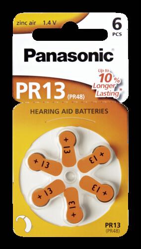 Panasonic PR 13 Zinc Air 6 pcs. Hearing Aid Cells