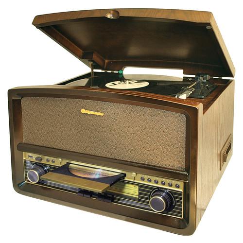 HIF-1937TUMPK Retro věž,gramo,CD,USB,kaz