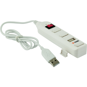 YHB 4002WH Hub 4 x USB 2.0 bílý YENKEE