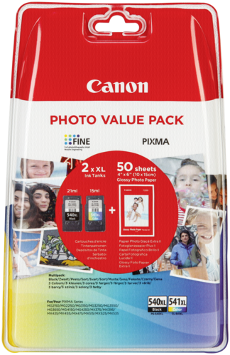 Foto papír Canon PG-540 XL / CL-541 XL Photo Value Pack GP-501 50 Bl.