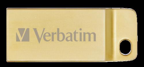 VERBATIM Flash Disk 16GB Metal Executive, USB 3.0, zlatá