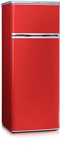 Kombinovaná chladnička Severin KS9795, červená