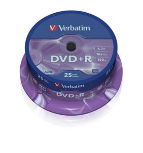 Disk DVD+R Verbatim 4,7GB 16x 25-cake