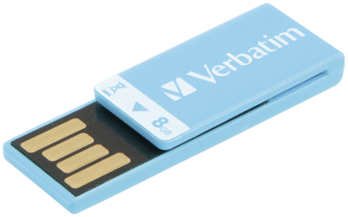 Verbatim Clip-it 8GB USB 2.0 caribbean blue