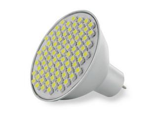 WE LED žárovka 80xSMD 4W GU5.3 teplá bílá – refl