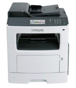 Lexmark MX410de, mono laser MFP, 1200dpi, 38ppm, 256MB, 800MHz, USB, Duplex,GLan, Fax