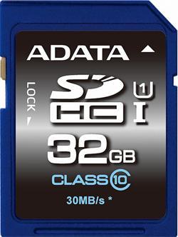 ADATA paměťová karta 32GB Premier SDHC UHS-I CL10 (čtení/zápis: 50/10MB/s)