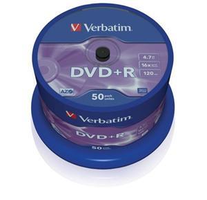 Disk DVD+R Verbatim 4,7GB 16x 50-cake