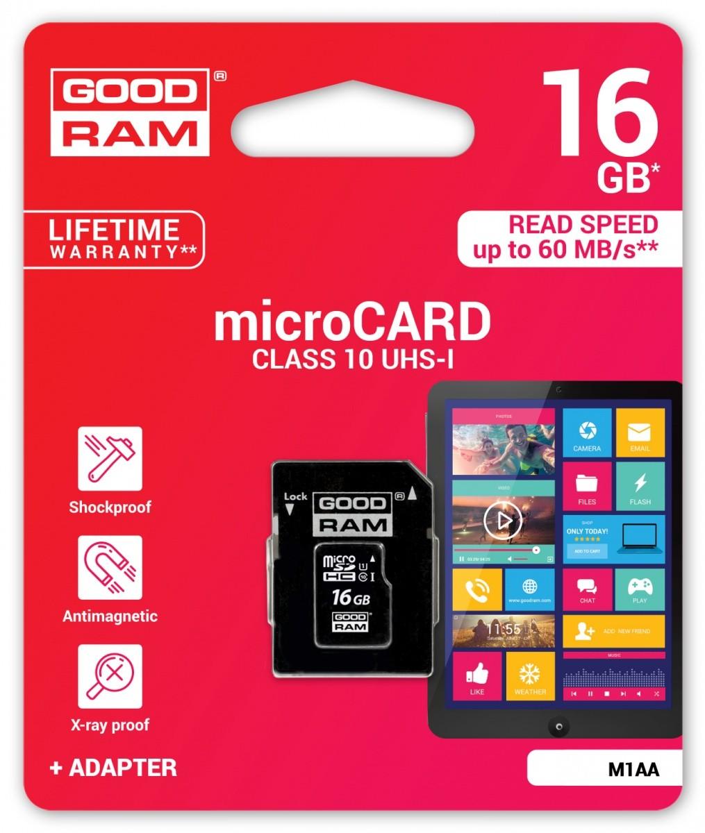 Paměťová karta Goodram MicroSD 16GB