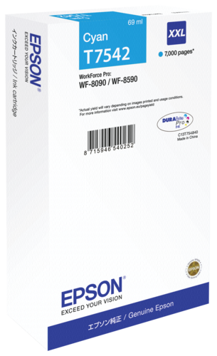 Epson ink cartridge XXL cyan T 754 T 7542