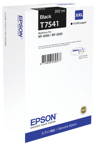 Epson ink cartridge XXL black T 754 T 7541