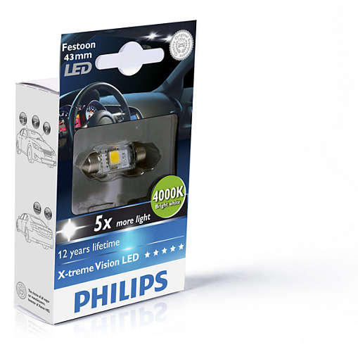 PHILIPS C5W 43 mm LED 4000K