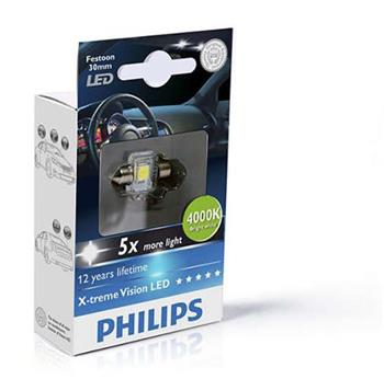 PHILIPS C5W 30 mm LED 4000K