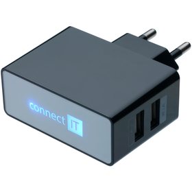 CI-153B nabíječka 2xUSB 3.1A CONNECT IT