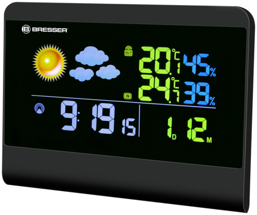 Bresser TemeoTrend Colour Radio Weather Station black