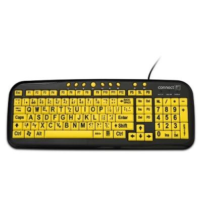 CONNECT IT klávesnice, kontrastní pro děti/seniory, USB