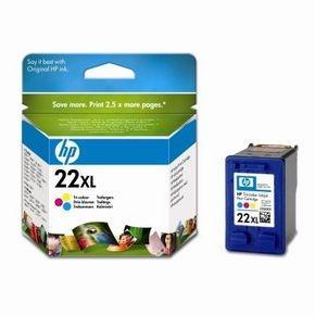 HP no. 22XL - 3barevná ink. kazeta velká, C9352CE