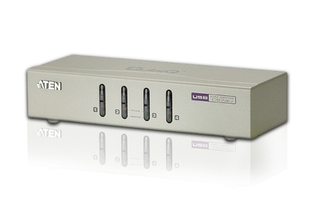 ATEN KVM switch CS-74U USB 4PC audio , včetně kabelů 1.2m