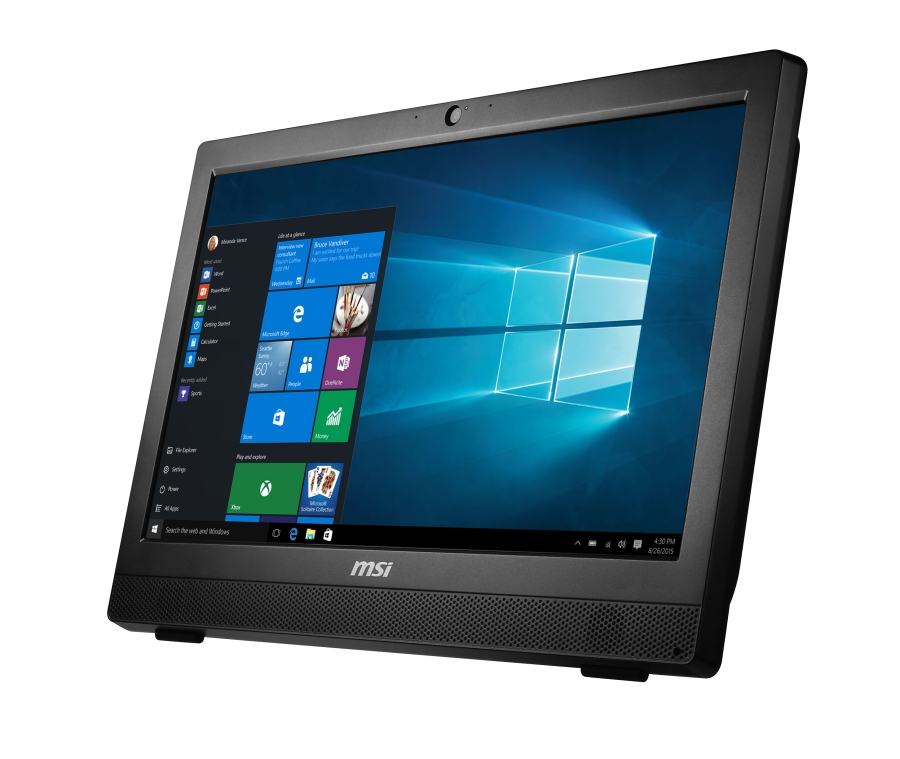 "MSI AIO PRO 24T 4BW-017EU 23.6"" Multi-Touch/1920x1080/Braswell N3710/4GB/1TB 7200 ot./HD Graphics/DVD/RW/Win10"