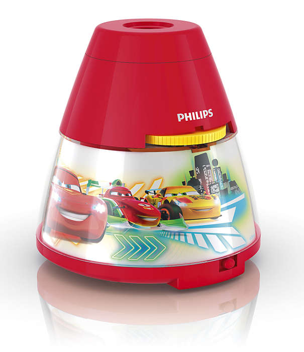 PHILIPS Table Lamp Cars Red