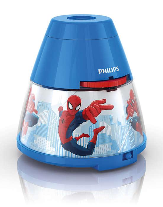 PHILIPS Table Lamp Spider-Man Dark Blue
