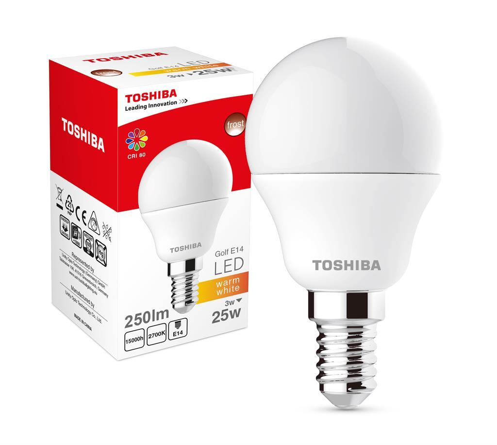 LED Lamp TOSHIBA Golf   3W (25W) 250lm 2700K 80Ra ND E14
