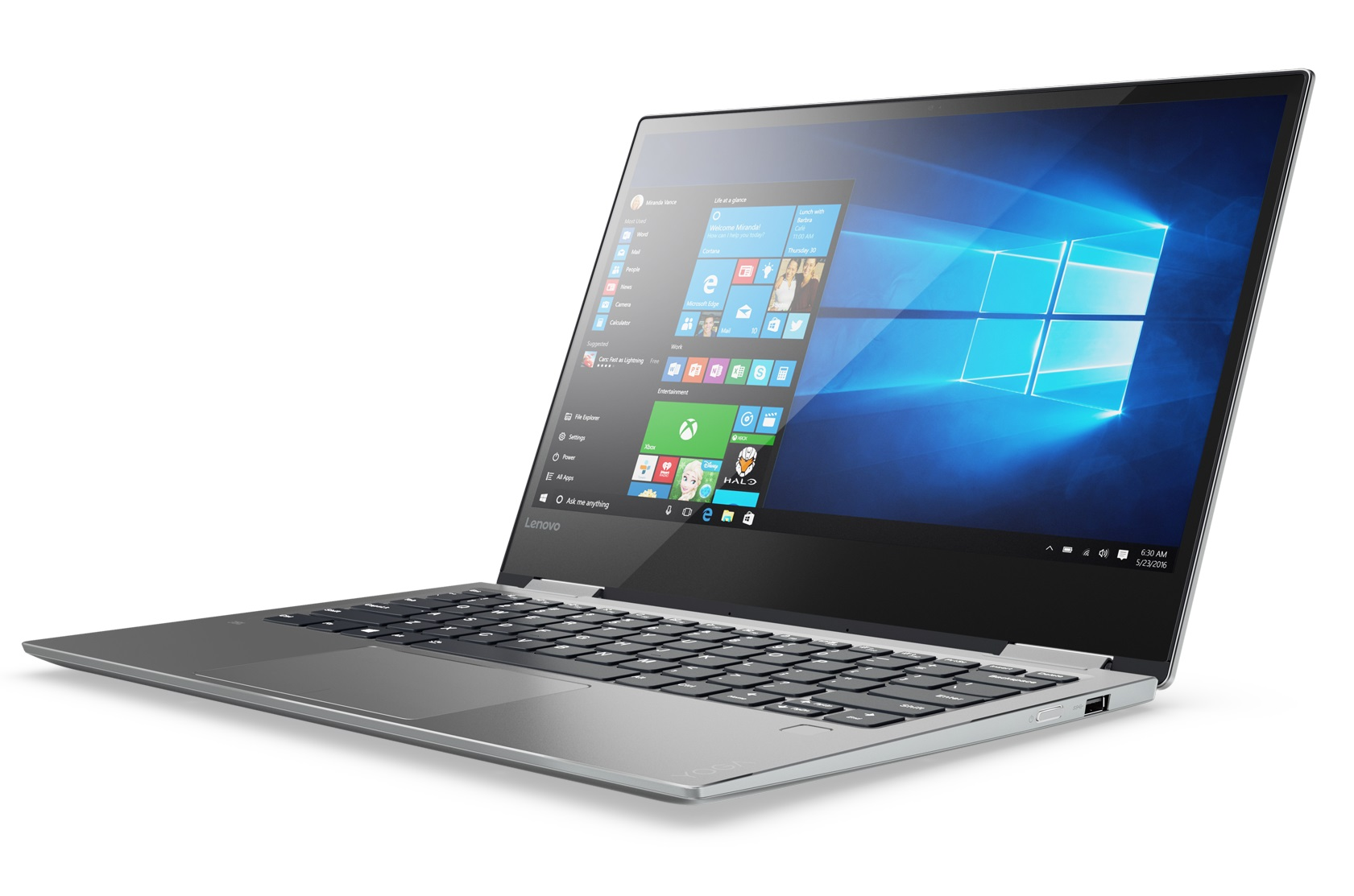 Lenovo Yoga 720 13.3 FHD IPS AG TOUCH/I7-7500U(H)/256G M.2/8G/INT/W10 PRO platinový