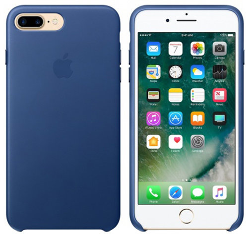 iPhone 7 Plus Leather Case - Sapphire