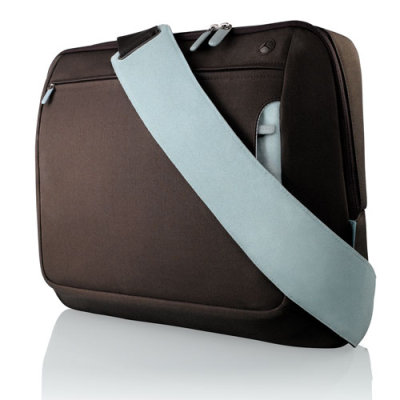Belkin Neoprene Messenger Bag for Notebook up to 17', hnědá/modrá