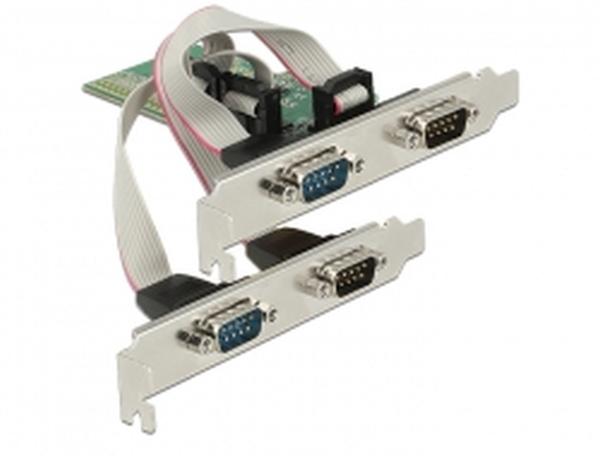 Delock PCI Express Karta > 4 x Seriový RS-232