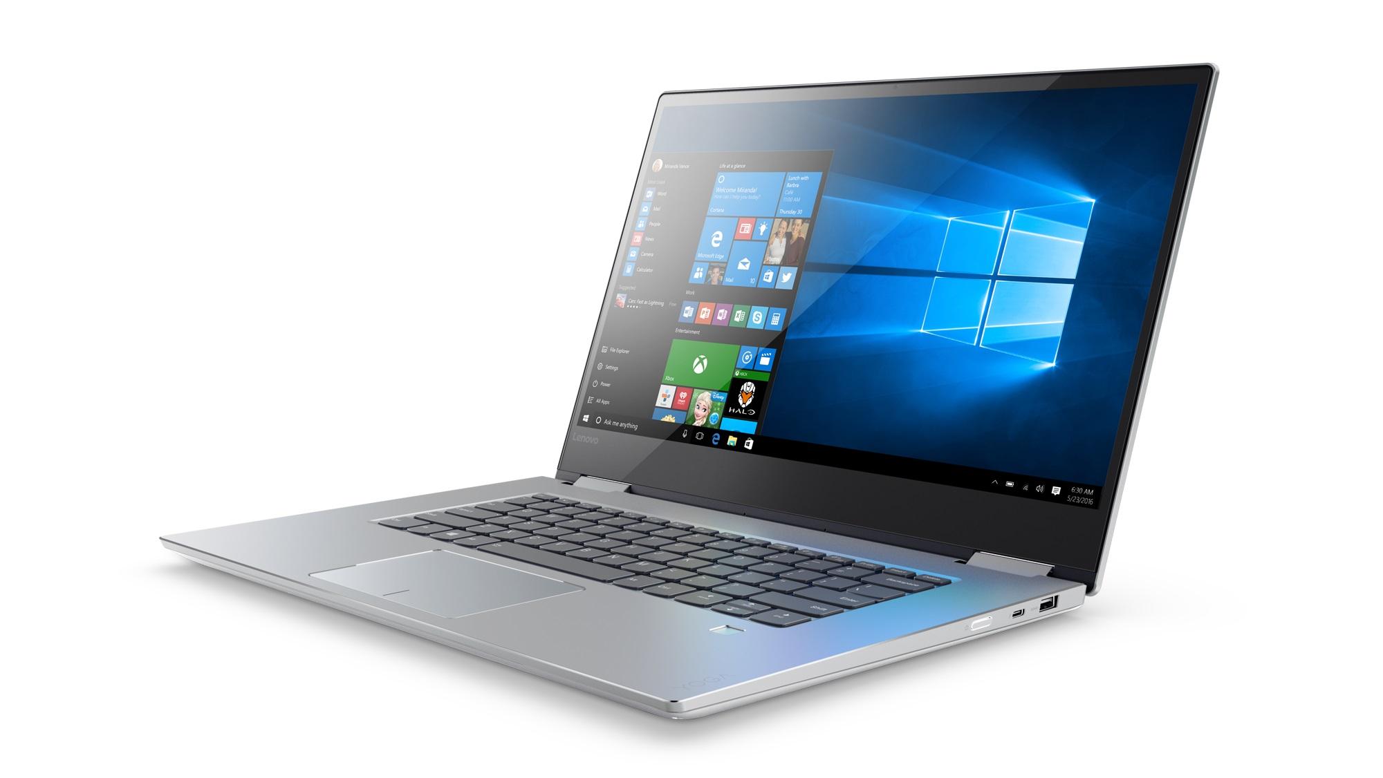 """Lenovo YOGA 720-15IKB i5-7300HQ 3,50GHz/8GB/SSD 256GB/15,6"""" FHD/AG/multitouch/GeForce 2GB/WIN10 stříbrná 80X7000KCK"""