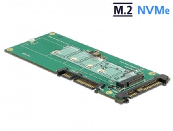 Delock Převodník U.2 SFF-8639 NVMe / SATA 22 pin > 1 x M.2 Key M