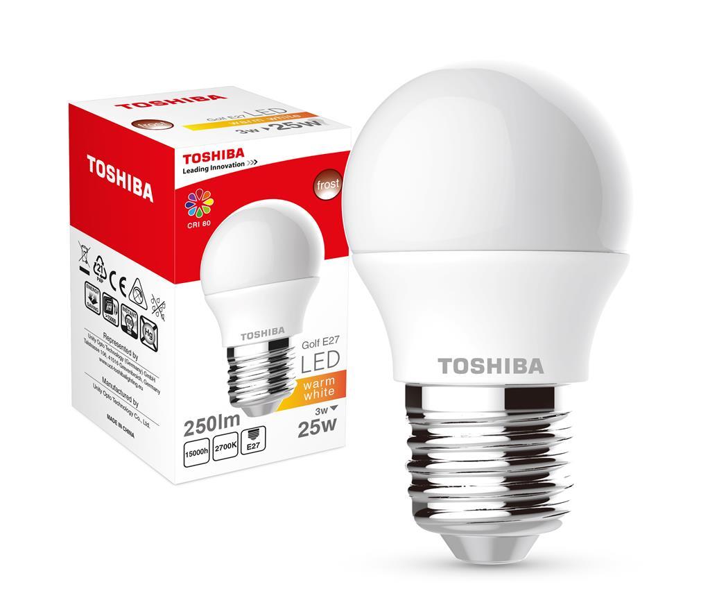 LED Lamp TOSHIBA Golf | 3W (25W) 250lm 2700K 80Ra ND E27