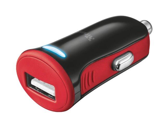 nabíječka TRUST 5W Car Charger - red