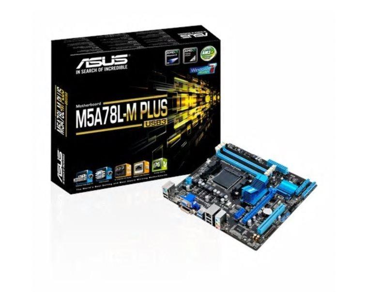 ASUS M5A78L-M PLUS/USB3, AM3+, AMD 760G, 4xDDR3, 1xPCIe16, GL,, DVI/D-Sub/HDMI, USB3.0, mATX