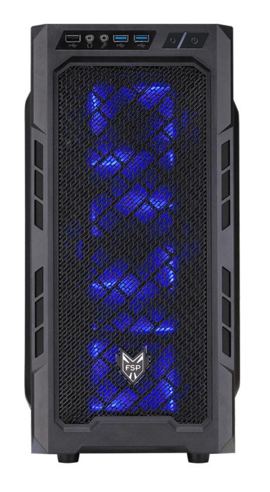 FSP/Fortron ATX Midi Tower CMT210 Black, průhledná bočnice