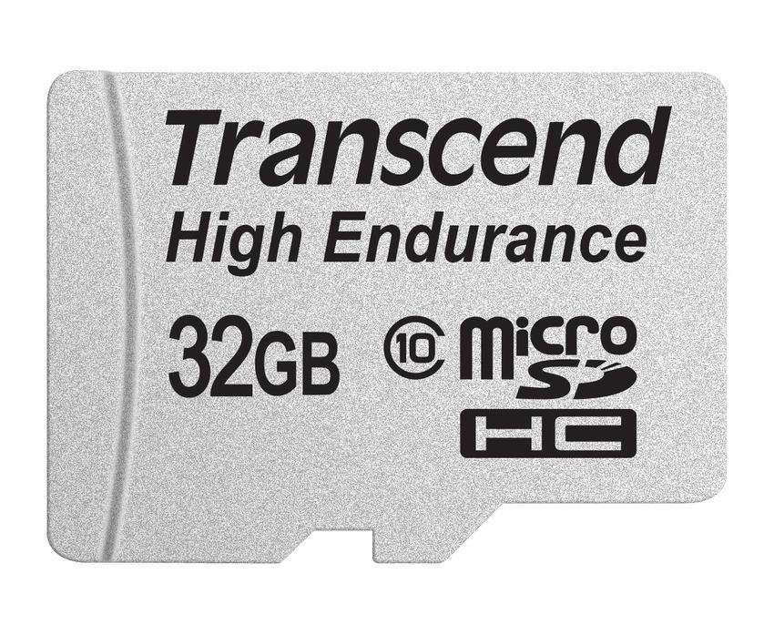 Transcend 32GB microSDHC (Class 10) High Endurance MLC průmyslová paměťová karta (s adaptérem), 21MB/s R, 20MB/s W
