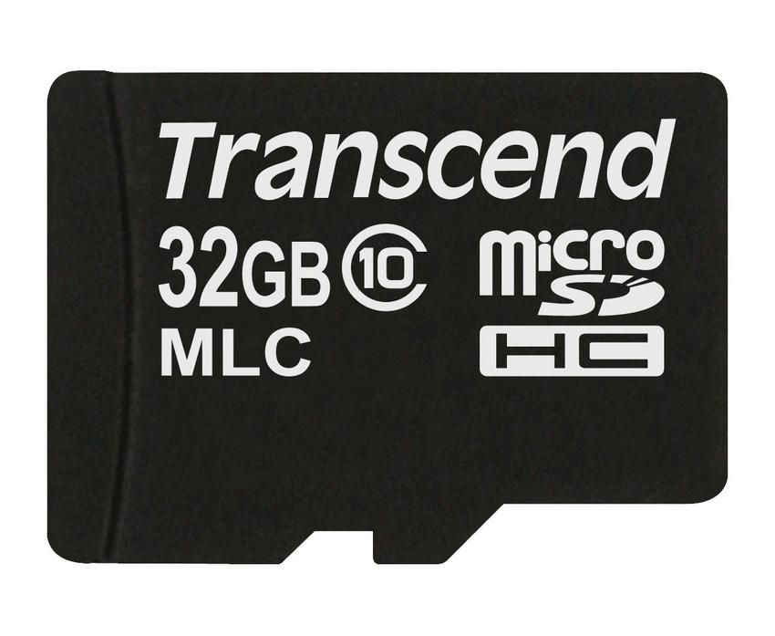 Transcend 32GB microSDHC (Class 10) MLC průmyslová paměťová karta (bez adaptéru), 20MB/s R, 16MB/s W