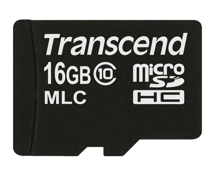 Transcend 16GB microSDHC (Class 10) MLC průmyslová paměťová karta (bez adaptéru), 20MB/s R, 16MB/s W