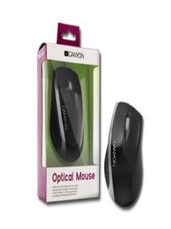 CANYON myš optická, 800dpi, 3tl+kolečko, USB 2.0, černo-stříbrná, new packing