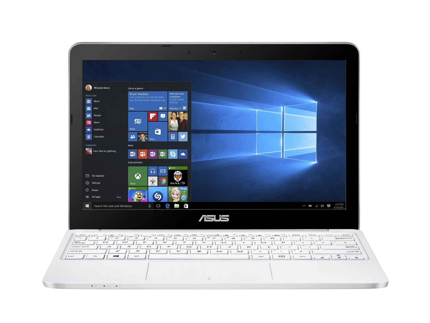 ASUS E200HA 11,6/x5-Z8350/32GB/4G/Win10, bílý