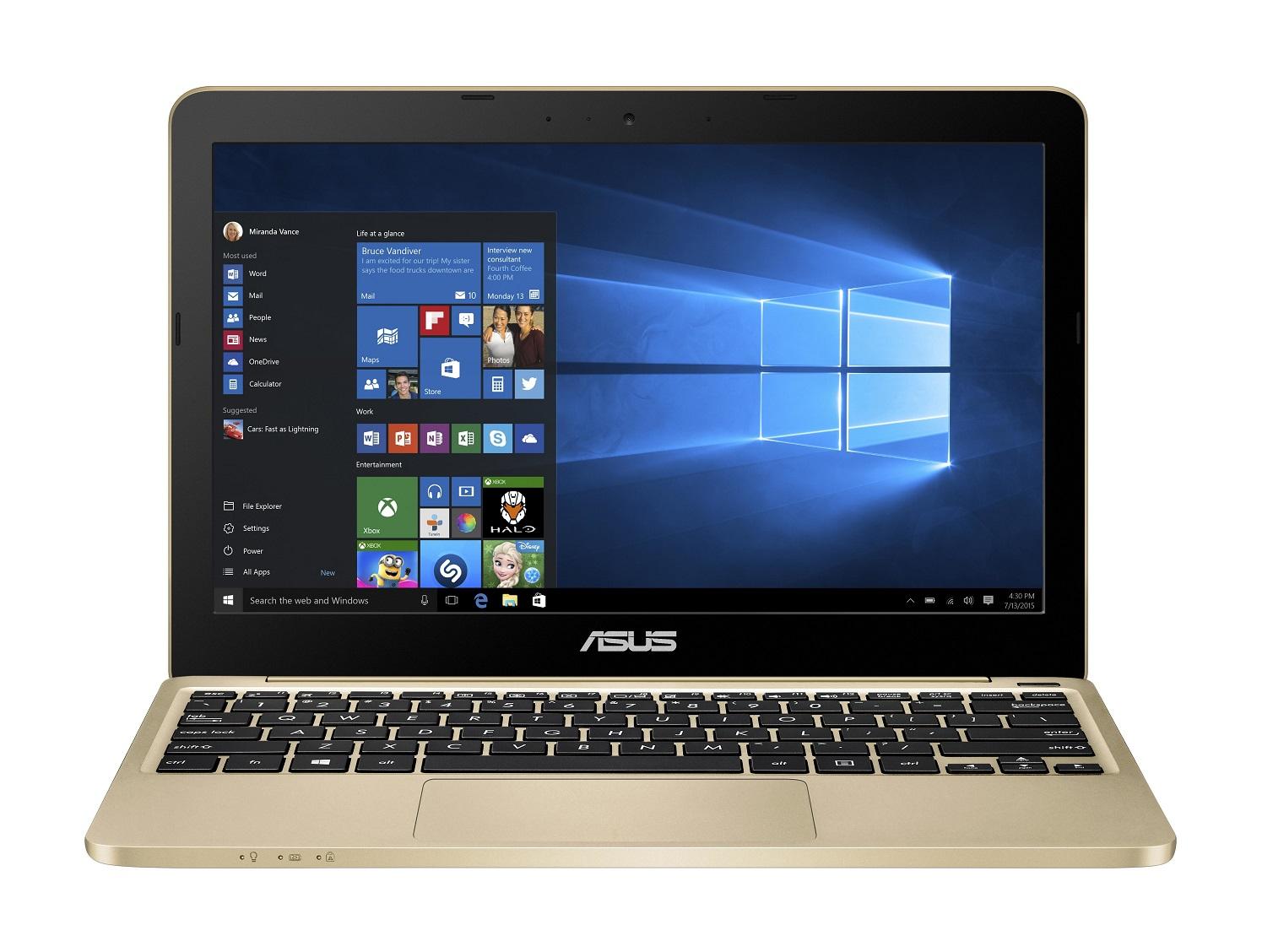 ASUS E200HA 11,6/x5-Z8350/32GB/4G/Win10, zlatý